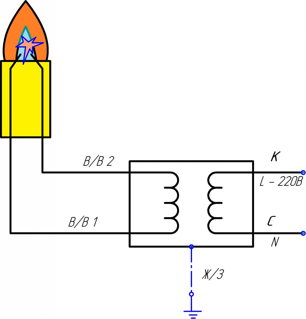 Схема трансформатор-2к
