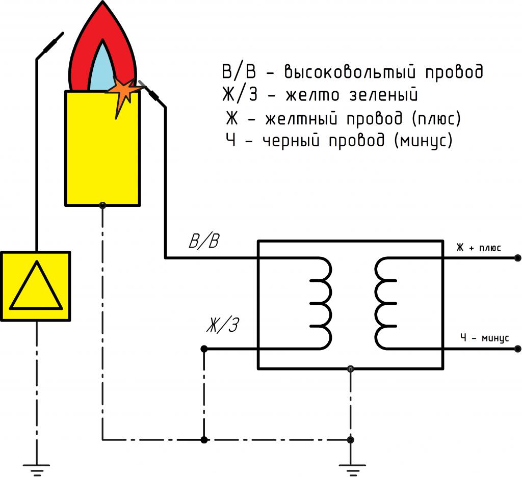 Схема трансформатор-24в